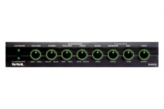 Sound Storm Lab® - 4-Band Graphic Equalizer with Subwoofer Crossover (40Hz, 150Hz, 1khz, 20kHz Adjustable EQ Bands)