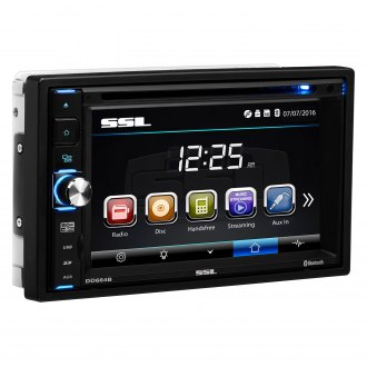 "Sound Storm Lab® - Double DIN DVD/CD/AM/FM/MP3/WMA/MP4 Receiver with 6.2"" Touchscreen Display and Built-In Bluetooth"