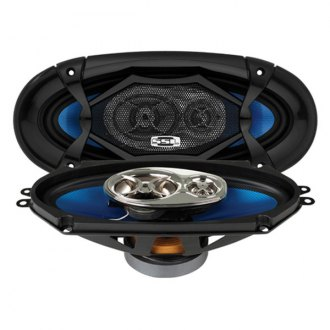 "Sound Storm Lab® - 4"" x 10"" 3-Way Force Series 400W Coaxial Speakers"