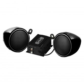 "Sound Storm Lab® - 3"" Black 2-Channel Motorcycle/ATV 600W Sound System with Bluetooth"