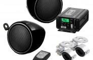 "Sound Storm Lab® - 3"" Motorcycle/ATV Speakers/Amplifier Class A/B 2-Channel 600W System"