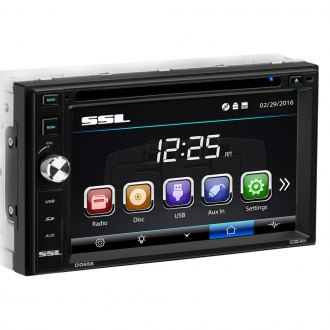 "Sound Storm Lab® - Double DIN DVD/CD/AM/FM/MP3/WMA/AVI Receiver with 6.2"" Touchscreen Display"
