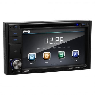 "Sound Storm Lab® - Double DIN DVD/CD/USB/SD/MP4/MP3 Receiver with 6.2"" Touchscreen Monitor"