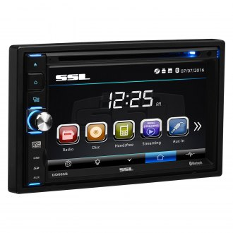 "Sound Storm Lab® - Double DIN DVD/CD/AM/FM/MP3/WMA Receiver with 6.5"" Touchscreen Monitor and Built-In Bluetooth"