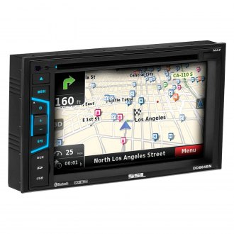 "Sound Storm Lab® - Double DIN DVD/CD/AM/FM/MP3/WMA/MP4 Receiver with 6.2"" Touchscreen Display Built-In Bluetooth and GPS Navigation"