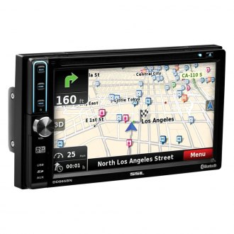 "Sound Storm Lab® - Double DIN DVD/CD/AM/FM/MP3/WMA Receiver with 6.5"" Touchscreen Monitor, Built-In Bluetooth and GPS Navigation"