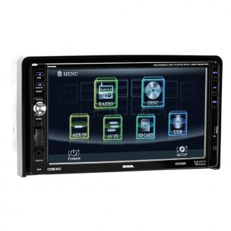 "Sound Storm Lab® - Double DIN DVD/CD/AM/FM/MP3/WMA Digital Multimedia Receiver with Detachable 7"" Touchscreen Monitor"