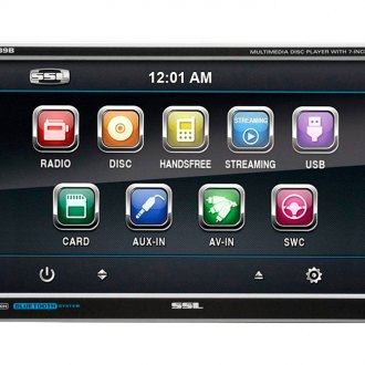 "Sound Storm Lab® - Double DIN DVD/CD/USB/SD/MP4/MP3 Digital Multimedia Receiver with Bluetooth and Detachable 7"" Touchscreen Monitor"