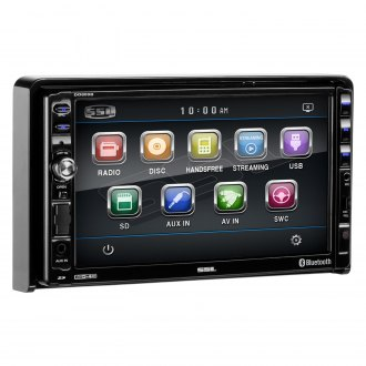 "Sound Storm Lab® - Double DIN DVD/CD/AM/FM/MP3/WMA/MP4 Digital Multimedia Receiver with Detachable 7"" Touchscreen Monitor and Built-In Bluetooth"