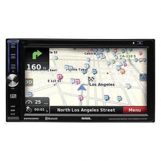 "Sound Storm Lab® - Double DIN DVD/CD/AM/FM/MP3/WMA/MP4 Receiver with 6.5"" Touchscreen Display Built-In Bluetooth GPS Navigation and License Plate Camera"