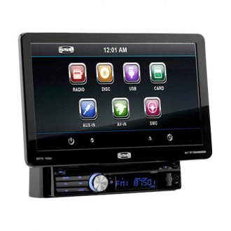 "Sound Storm Lab® - Single DIN Digital Multimedia Receiver with Detachable 10.1"" Touchscreen Monitor"