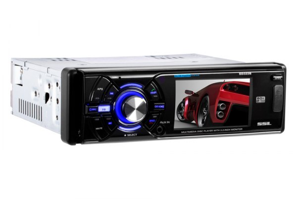 "Sound Storm Lab® - Single DIN DVD/CD/MP3/WMA Receiver Detachable with 3.2"" Monitor"