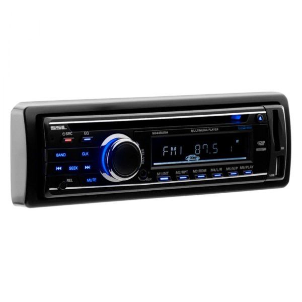 Sound Storm Lab® - Single Din DVD/CD/MP3/WMA Receiver with Detachable Front Panel