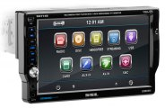 "Sound Storm Lab® - Single DIN Digital Multimedia Receiver with 7"" Touchscreen Monitor, A/V Input, USB & SD ,Wireless Remote"