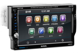 "Sound Storm Lab® - 7"" Single DIN Receiver Bluetooth USB / SD Aux In / Remote"