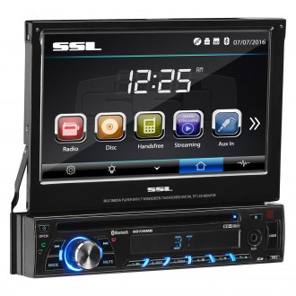 "Sound Storm Lab® - Single DIN DVD/CD/AM/FM/MP3/WMA Receiver with 7"" Touchscreen, LCD Monitor and Built-In Bluetooth"