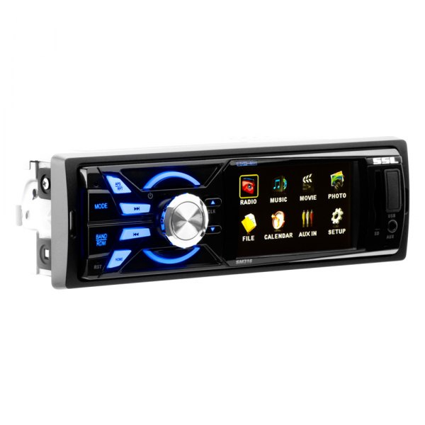 "Sound Storm Lab® - Single Din 3.2"" Screen AM/FM/Aux/SD/MP3/MP4/AVI/USB/Bluetooth Media Player"
