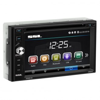 "Sound Storm Lab® - Double DIN DVD/CD/AM/FM/MP3/WMA/AVI Receiver with 6.2"" Touchscreen Display and Built-In Bluetooth"