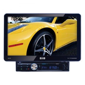 Sound Storm Lab® - Single DIN Digital Multimedia Receiver with Detachable 10.1 Touchscreen Monitor and Bluetooth