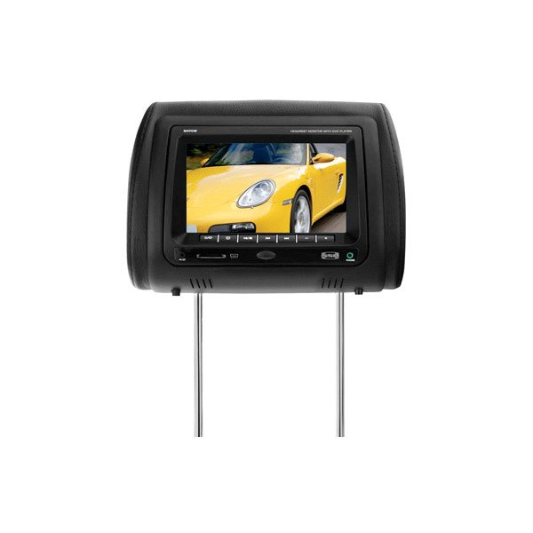 "Sound Storm Lab® - Headrest with 7"" TFT Monitor with Built-in DVD Player"