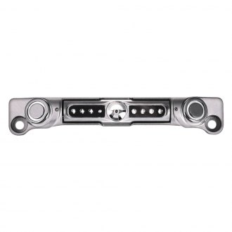 Soundstream® - Chrome License Plate Color Camera with Back-Up Sensors