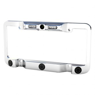 Soundstream® - Chrome License Plate Color Frame with Camera and Back-Up Sensors