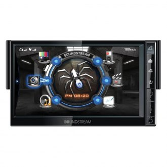 "Soundstream® - Single DIN INGENIX DVD/USB/SD/HDD Multimedia Receiver with 7"" LCD Monitor, Built-In Bluetooth and Navigation"