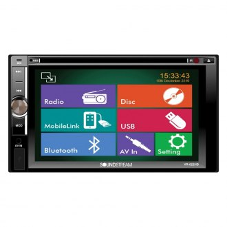 "Soundstream® - Double DIN AM/FM/DVD Receiver with 6.2"" Touchscreen, Display and Bluetooth"