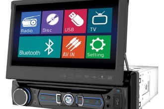 "Soundstream® - Single DIN AM/FM/DVD/USB/SD Receiver with 7"" Touchscreen and LCD Monitor"