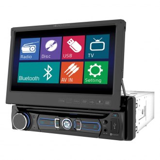 "Soundstream® - Single DIN AM/FM/DVD/USB/SD Receiver with 7"" Touchscreen, LCD Monitor and Bluetooth"