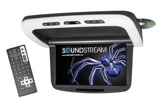Soundstream® - Overhead LCD Flip Down Monitor with DVD System