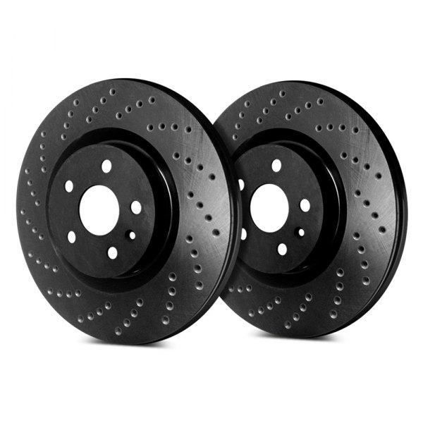 SP Performance® - Cross Drilled 1-Piece Front Brake Rotors