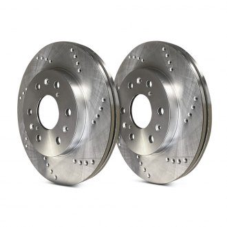 SP Performance® - Cross Drilled Vented 1-Piece Front Brake Rotors