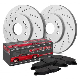 SP Performance® - Cross Drilled 1-Piece Front Brake Kit
