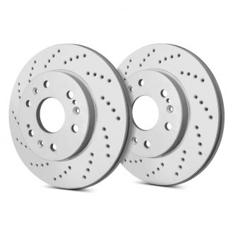 SP Performance® - Cross Drilled Brake Rotors