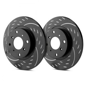 SP Performance® - Diamond Slot™ Dimpled and Slotted Vented 1-Piece Front Brake Rotors