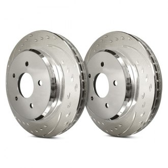 SP Performance® - Diamond Slot Brake Rotors