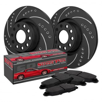 SP Performance® - Drilled and Slotted 1-Piece Front Brake Kit