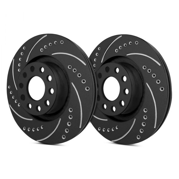 SP Performance® - Drilled and Slotted 1-Piece Front Brake Rotors