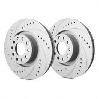 SP Performance® - Drilled and Slotted Vented 1-Piece Front Brake Rotors