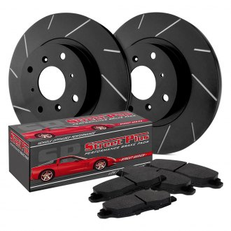 SP Performance® - Slotted 1-Piece Front Brake Kit