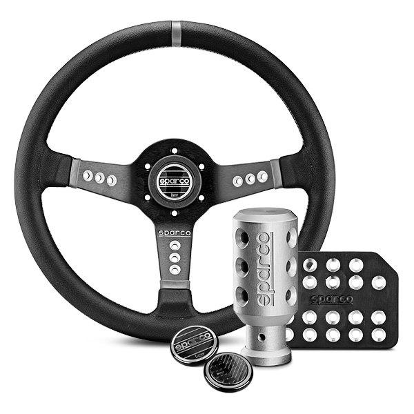 Sparco 015TL522TUV Lap 5 Black Steering Wheel