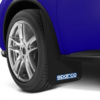 Sparco® - Black Mud Flaps with Sparco Logo