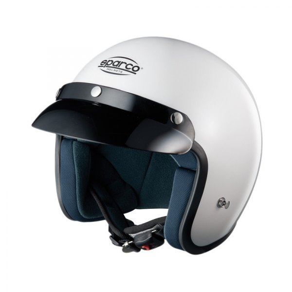 Sparco® - Club J-1 Open Face ATM (Advance Thermo Material) White Racing Helmet, XS Size