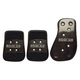 Sparco® - Carbon Series Manual Gear Racing Pedal Set, Shaped Short, Black
