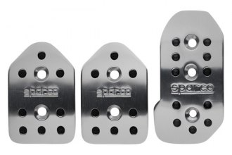 Sparco® - Reflex Series Manual Gear Racing Pedal Set, Shaped, Silver