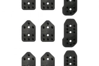 Sparco® - Reflex Series Black Short Manual Gear Rubber Pedal Inserts