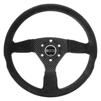 Sparco® - 3-Spoke Carbon 385 Series Suede Competition Steering Wheel