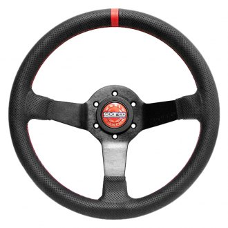 Sparco® - 3-Spoke Champion Limited Edition Series Street Racing Leather Steering Wheel