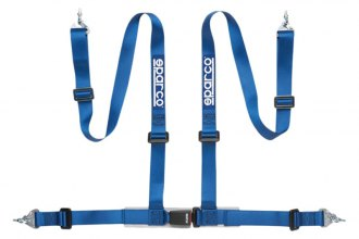 "Sparco® - 4 Points Snap On Fixing Buckle Latch Street Racing Harness (Pull down Style; 2""-2"")"